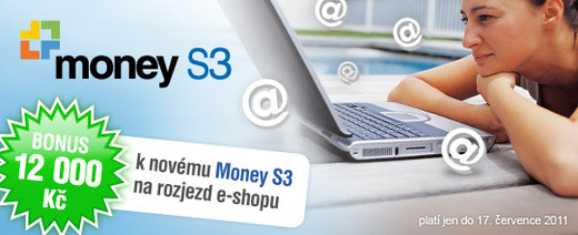 12.000,- Kč bonus k Money S3 a eshopu.