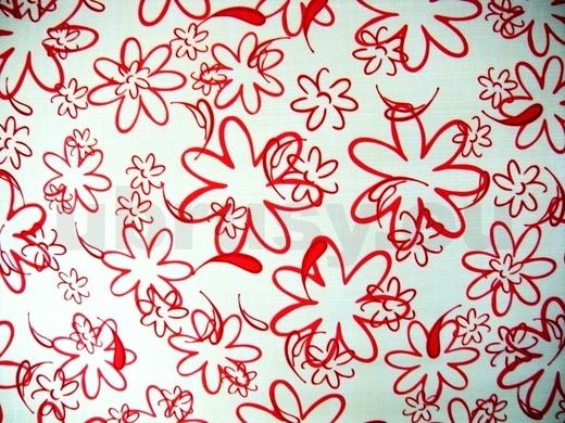 Ubrus červené kytky