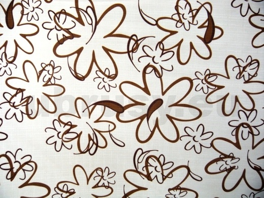 Ubrus hnědé kytky