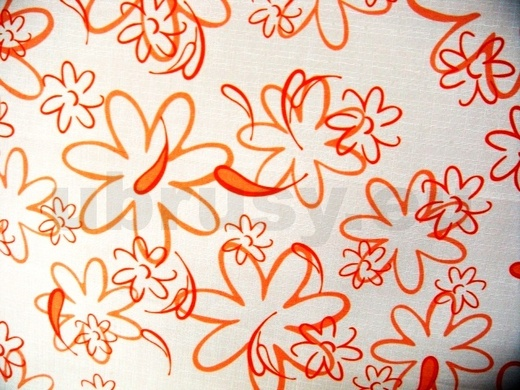 Ubrus oranžové kytky